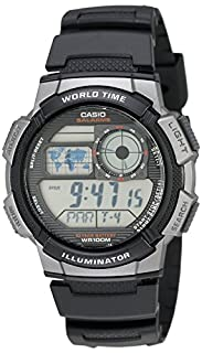 Casio-AE - 1000W - 1B Sports Men's Watch Digital Quartz LCD Display Black Resin Strap (B003DZDYMU) | Amazon price tracker / tracking, Amazon price history charts, Amazon price watches, Amazon price drop alerts