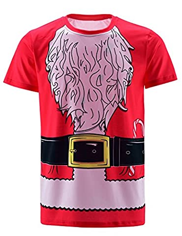 Funny World Herren Santa Claus Costume T-Shirts (4XL, Weihnachtsmann) (Costume World)