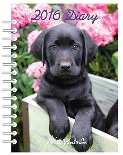 2016 Diary A5 Keith Kimberlin Dog Design Hard Back Wiro Weekly Journal