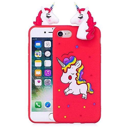 TPU Hülle für iPhone 8 / iPhone 7, Silikon Handyhülle Schöne 3D Case für iPhone 8 / iPhone 7, Schutzhülle Tasche Silikonhülle für iPhone 8 / iPhone 7, ZCRO Silikon - Cute Cd-player