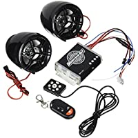 KDX-Audio 09.5458 - Altavoces para Moto y Sistema antirrobo, Color Negro