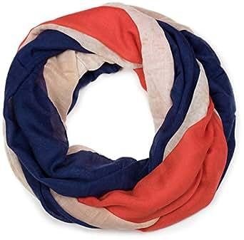 styleBREAKER Loop Schlauchschal im Frankreich Flaggen Vintage Design, Schal, Tuch, Unisex 01016116, Farbe