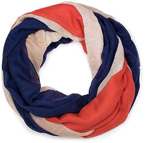 styleBREAKER écharpe tubulaire dessin vintage, à motif de drapeau national français, écharpe, tissu, unisexe 01016116, couleur:Bleu-blanc-rouge