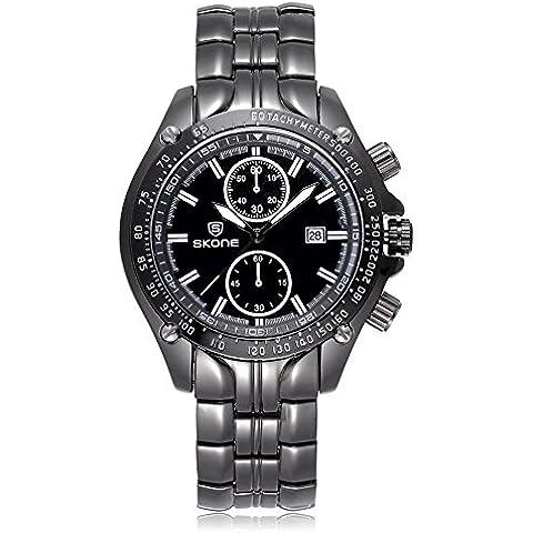 SKONE da uomo Luxury Brand Design classico orologio 504703, Nero