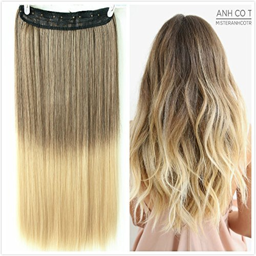 Light Hair Brown Extension Ombre (Devalook Haarverlängerung, 56 cm (22 Zoll), , Light ash brown to sandy blonde, Stück: 1)