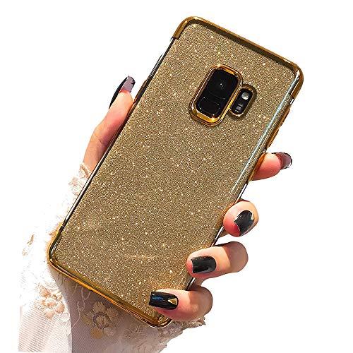 Miagon 2-1 Glitzer Hülle für {Huawei Y6 2018},Luxus Glitzer Bling Überzug Hülle Handyhülle Slim Case Schale Leicht Dünn Schutzhülle Glänzendes