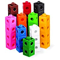 hand2mind Linking Pop Cubes, Educational Counting Math Toy (Set of 100)