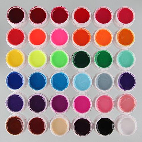 Beauty7 Nail Art 36 Pcs UV Gel Verre Pure Pour Ongle Faux Acrylique Manucure