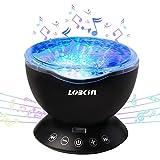 LOBKIN Ozean Wellen LED Nachtlicht-Projektor mit multifunktionaler Sensor Touch-Fernbedienung und