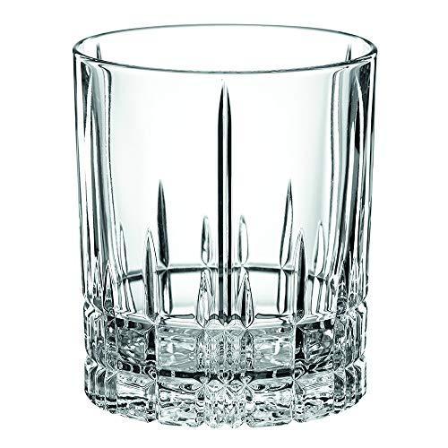 Spiegelau & Nachtmann, 4-teiliges Whisky-Set, Kristallglas, 368 ml, Perfect Serve, 4500176 (Old Double Fashioned Gläser)