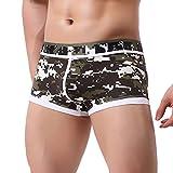 Qmber Bequeme Unterwäsche, Männer-Collage Unterwäsche Print Boxershorts Underwear Shorts Taschen Unterwäsche Slips Komfort Komfort (Armee grün, L)