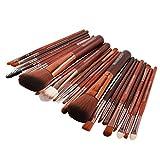 22pcs trucco cosmetico pennello fard ombretto set kit,Yanhoo® Make-up, Eyeliner, Ombretto, Sopracciglia, Pennello per Fondotinta Liquido, Manico