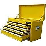 US PRO herramientas caja de herramientas herramienta de funda para portátil con 6cajones Armario de herramientas Amarillo Cojinete de bolas deslizante cajones