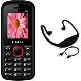 I KALL K55 Red Dual Sim Mobile With Neckband -Red