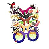 LUOEM 6 Unids Halloween Gafas Divertidas de Dibujos Animados Disfraces de Halloween Lindo Masquerade Cosplay Props Decoraciones del Partido Regalos de Halloween para Amigos (Color Mezclado)