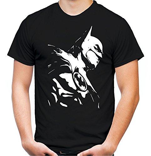 Black Kostüm Superman - Batman Männer und Herren T-Shirt | Spruch Retro Comic Geschenk | M3 (XL, Schwarz)