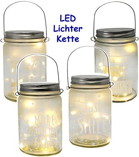 1 Stück _ LICHT Dekoglas - 10 Stück LED -