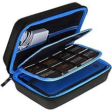 AUSTOR Hart Tasche Tragetasche für Nintendo Neue 3DS XL-Schwarz / Blau