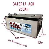 Batería solar ciclo profundo AGM 250Ah 12V Solar Fotovoltaica