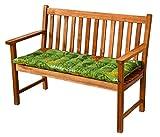 Möbelträume Bankauflagen 110 x 47 x 7 cm Dessin Ibiza 40240-215 in grün - Auflage ohne Bank (1)