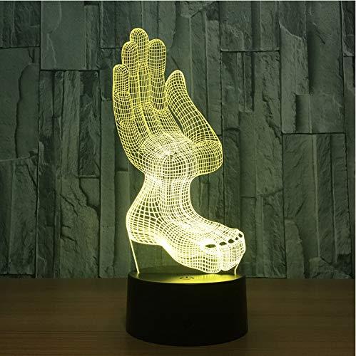 Hologramm 7 Farben Ändern Led Nachtlicht 3D Led Nachtlicht Led Tisch Halloween Weihnachten Neujahr Lampe ()