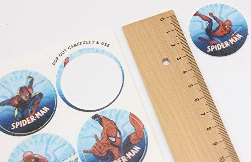 Cakeshop 12 x VORGESCHNITTENE UND ESSBARE Spiderman Comic Kuchen topper (Tortenaufleger) - 4
