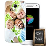 dessana Eigenes Foto Transparente Schutzhülle Handy Tasche Case für Samsung Galaxy S4 Mini