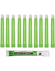 Cyalume SnapLight Grün KnickLichter Glow Sticks – 15cm 6 Inch Industrial Grade Leuchtstab, Ultra helle Light Sticks mit Leuchtdauer 12 Stunden (10-er Pack)
