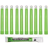 Cyalume KZ-IF8W-ILXA - Barras de luz verde SnapLight Glow Sticks 15 cm, 6 Inch Lightstick super brillante con duración de 12 horas (Caja de 10)