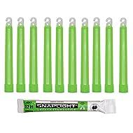 Cyalume Bâton lumineux vert SnapLight Glow Sticks 15cm, Light Sticks très lumineux avec durée de 12 heures (Carton de 500)