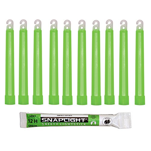 Cyalume SnapLight Green Glow Sticks – 6 Inch Industrial Grade, Ultra Bright Light Sticks with 12 Hour Duration (Pack of 10) Test