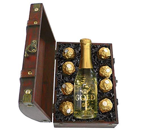 Geschenk Mini-Truhe Gold-Schätzchen
