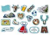 XXL de * Bayern * avec 51Grand confettis de parties Grand pour une décoration Party//enfants confettis Devise de Devise Bavaria Oktoberfest Wiesn Pantalon en cuir, bretzel etc.