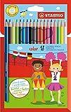 STABILO color - Étui carton de 18 crayons de couleur