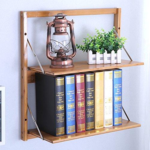 QIANDA Mensole da Muro Parete Parete Libreria Scaffale Montaggio A Parete Bookrack bambù Mensola dei Fiori Scaffale delle Merci, 4 Dimensioni Opzionale