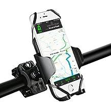 Supporto Bici Smartphone Mpow Porta Telefono Bici Universale Bicicletta Ciclismo Supporto per iPhone 7/6s/6, Galaxy S7/S6, Google Nexus 5/4, HTC e Dispositivo GPS(Pulsante di Rilascio, Rotabile a 360 gradi, Cinturino in