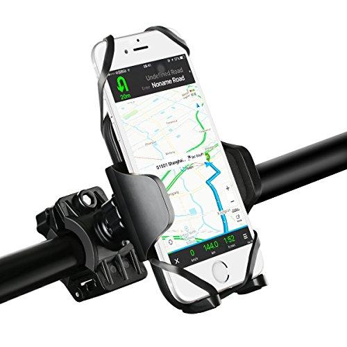Supporto Bici Smartphone Mpow Porta Telefono Bici Universale Bicicletta Ciclismo Supporto per iPhone 7/6s/6, Galaxy S7/S6, Google Nexus 5/4, HTC e Dispositivo GPS(Pulsante di Rilascio, Rotabile a 360 gradi, Cinturino in Gomma)
