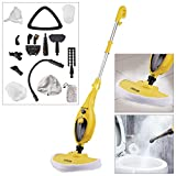 Voche® Yellow 1300W 16-in-1 Upright Steam Mop with Detachable Hand-Held Steam Cleaner with Attachments and Accessories - Includes Steam Window Cleaning Attachment and Garment Steamer! …