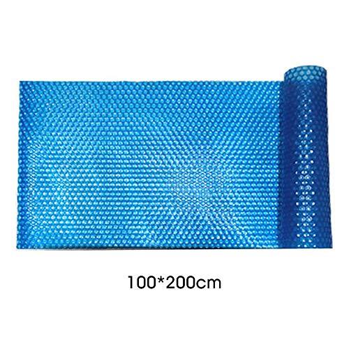 Rich-home Solar Cover Pool, Solarabdeckplane Solar Poolfolie Staubdichte Abdeckung für Easy Set und Frame Pool, Blau(100X200cm) (Pool-solar-abdeckungen)