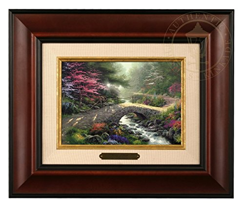 Thomas Kinkade Brushwork Bridge of Faith - Wurzelrahmen -