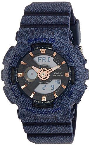 Casio Women's Baby G BA110DE-2A1 Blue Resin Japanese Quartz Diving Watch