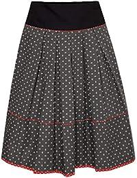 Almsach Damen Trachten-Mode Rock Lena in Anthrazit traditionell