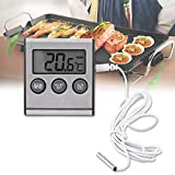 Haofy Digital-kochendes Thermometer, Kühlschrankthermometer, digitaler Kühlraum-Gefrierschrank-Thermometer mit LCD-Anzeige