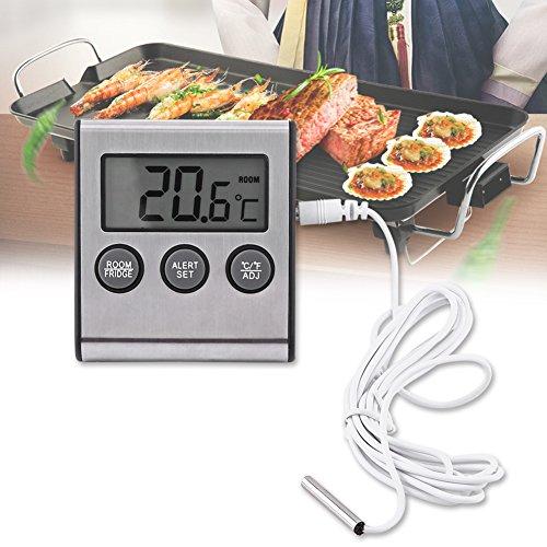 Haofy Digital-kochendes Thermometer, Kühlschrankthermometer, digitaler Kühlraum-Gefrierschrank-Thermometer mit LCD-Anzeige -