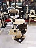 MERRYHOME Gatto grande albero graffiatore gatto centro di attività graffiante post arrampicata torre di albero con giocattoli gatto