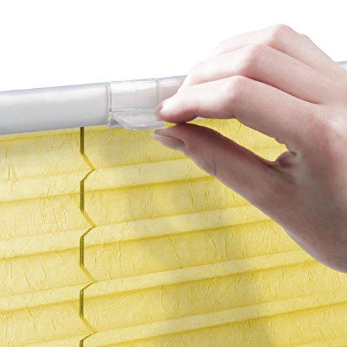 casa pura® Plissee Rollo   mit eleganter Crushed Optik   Klemmfix ohne Bohren   lichtdurchlässig & blickdicht   gelb   8 Größen (120x100cm) - 6