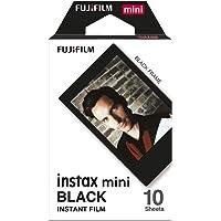 Fujifilm Instax Mini Film Pellicola Istantanea per Fotocamere Black, Formato 46x62 mm, Confezione da 10 Foto