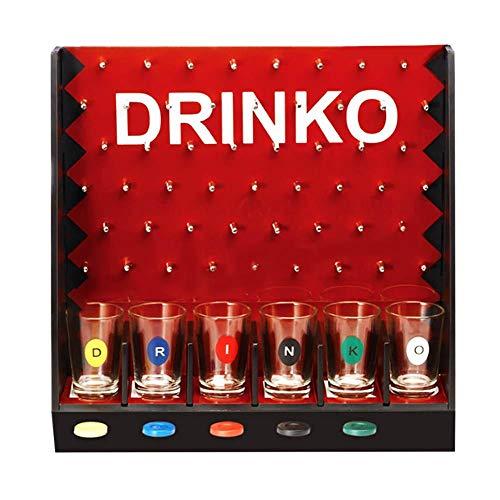 Bloomma Juego de Beber Juego de Ruleta de Cristal para Fiestas de Bares Vacaciones en Bares Juego de Beber Juguetes Bombas Que Caen Juego de Vino para Suministros de Bar