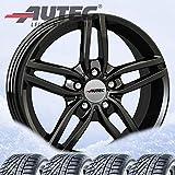 4 Winterräder Autec Kitano 7x16 ET40 5x120 Schwarz mit 205/55 R16 91H Continental WinterContact TS 860 für BMW 1er] 2er