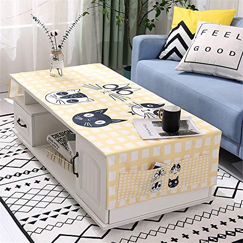 QWEASDZX Tischdecke Baumwolle und Leinen Wasserdicht Staubdicht Tischdecke rechteckige Tischdecke Tischdecke Wiederverwendbar Geeignet für innen und außen 70x180cm